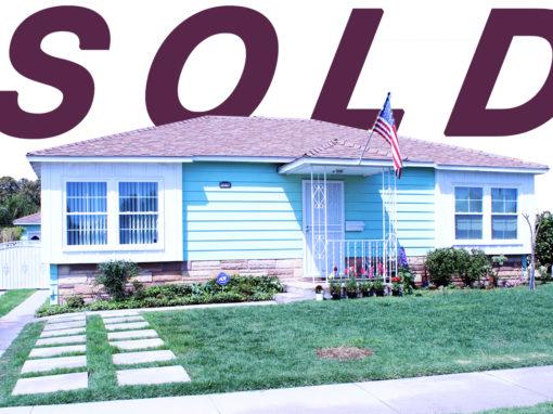 SOLD! 12317 Richeon Ave, Downey California | 3 BED | 1 BATH | 2 CAR GARAGE | 6,470 SQ FT LOT