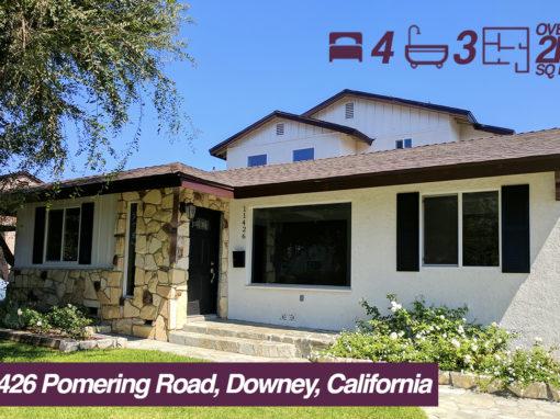 SOLD! 11426 Pomering Road, Downey, California | 4 BED | 3 BATH | 2 CAR GARAGE