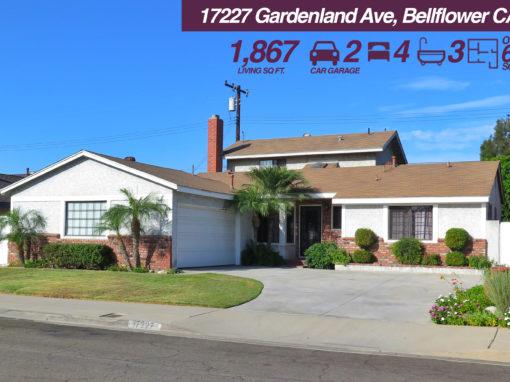 17227 Gardenland Ave, Bellflower CA   4 BED   3 BATH   2 CAR GARAGE   +6K SQ FT LOT