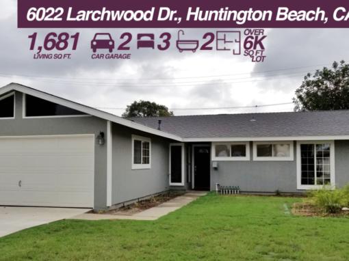 6022 Larchwood Dr Huntington Beach, CA 92647 | 3 BED | 2 BATH | 2 CAR GARAGE | +6K SQ FT LOT