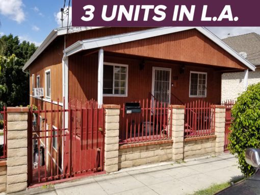 123 N. Westlake Ave, Los Angeles, CA 90026   3 UNITS   PRICE $879K   5,995 SQ FT LOT