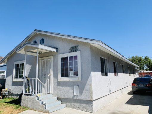 719 E 76th Pl Los Angeles, CA 90001 | Unit 1:  4 Bed 2 Bath – Rent $1,800 Unit 2:  4 Bed 2 Bath – Rent $1,700 Total Liv spc:  2,178 sqft.  Lot:  5,105 sqft.